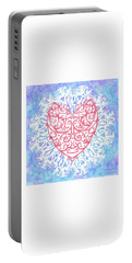 Heart In A Snowflake II Portable Battery Charger