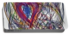 Heart In Motion Abstract Portable Battery Charger