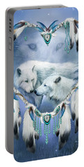 Portable Battery Charger featuring the mixed media Heart Of A Wolf 3 by Carol Cavalaris