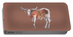 Heart Of Texas Longhorn Portable Battery Charger