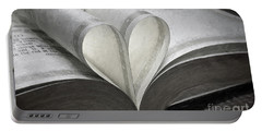 Heart Of The Book  Portable Battery Charger