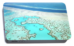 Heart Reef Portable Battery Charger by Az Jackson