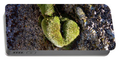 Moss Heart On A Chain Portable Battery Charger by Deborah Moen
