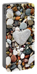 Heart-shaped Stone Portable Battery Charger