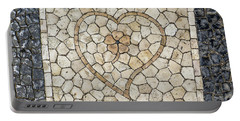 Heart Shaped Traditional Portuguese Pavement Portable Battery Charger
