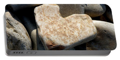 Heart Stone Portable Battery Charger by Lainie Wrightson