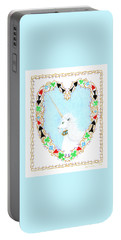 Heart With Unicorn Portable Battery Charger