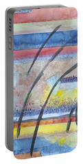Portable Battery Charger featuring the painting Heartbeat by Jacqueline Athmann