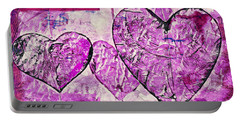 Hearts Abstract Portable Battery Charger