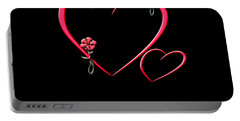Hearts And Flowers Portable Battery Charger