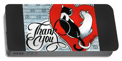 Portable Battery Charger featuring the painting Hearts And Tails by Dora Hathazi Mendes