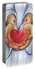 Heart's Desire Portable Battery Charger by Nancy Cupp