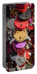 Hearts Locked In Love Portable Battery Charger
