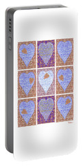 Hearts Within Hearts In Copper And Blue Portable Battery Charger