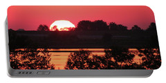 Heat Wave Sunrise Portable Battery Charger