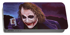 Heath Ledger As The Joker Painting Portable Battery Charger