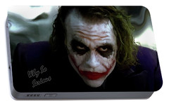 Heath Ledger Joker Why So Serious Portable Battery Charger by David Dehner