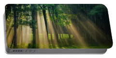 Portable Battery Charger featuring the photograph Heavenly Light Sunrise by Christina Rollo