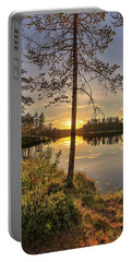 Portable Battery Charger featuring the photograph Heavenly Sunset by Rose-Marie Karlsen