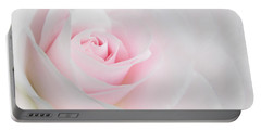 Heaven's Light Pink Rose Flower Portable Battery Charger