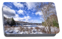 Portable Battery Charger featuring the photograph Heavy Snow At The Green Bridge by David Patterson