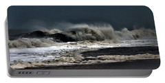 Portable Battery Charger featuring the photograph Stormy Surf by Kim Bemis