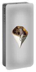 Portable Battery Charger featuring the digital art Hebard Sailling Dory by Daniel Hebard