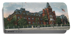 Portable Battery Charger featuring the photograph Hebrew Orphan Asylum by Cole Thompson