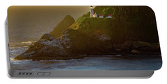Heceta Head Lighthouse At Sunset Portable Battery Charger