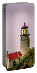 Heceta Head Lighthouse In The Fog Portable Battery Charger