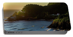 Portable Battery Charger featuring the photograph Heceta Head Lighthouse by John Hight