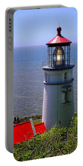 Heceta Head Lighthouse Portable Battery Charger by Wendy McKennon