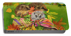 Hedgehogs Inside Scarf Portable Battery Charger