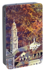 Portable Battery Charger featuring the painting Heidelberg Evening by Ryan Fox