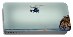 Helicopter Firefighter Take Water In The Sea Portable Battery Charger