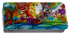 Portable Battery Charger featuring the painting Helios And Ophelia  by Genevieve Esson