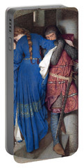 Hellelil And Hildebrand Or The Meeting On The Turret Stairs Portable Battery Charger