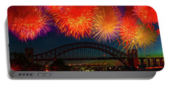 Portable Battery Charger featuring the photograph Hellgate Independence Celebration by Chris Lord