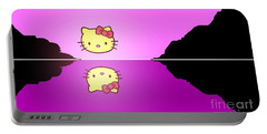 Hello Kitty Sunrise Portable Battery Charger by George Pedro