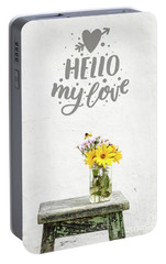 Portable Battery Charger featuring the photograph Hello My Love Card by Edward Fielding