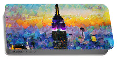 Hello New York Portable Battery Charger by Sir Josef - Social Critic -  Maha Art