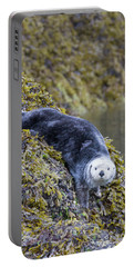 Hello Sea Otter Portable Battery Charger by Chris Scroggins