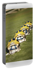 Helmets On Yard Line Portable Battery Charger