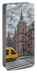 Portable Battery Charger featuring the photograph Helsingor Train Station by Antony McAulay