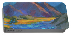Portable Battery Charger featuring the painting Henderson Canyon Borrego Springs by Diane McClary