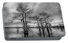 Portable Battery Charger featuring the photograph Henderson Swamp Wetplate by Andy Crawford