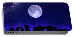 Henge Under The Supermoon Portable Battery Charger