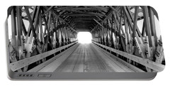 Henniker Covered Bridge Portable Battery Charger by Greg Fortier