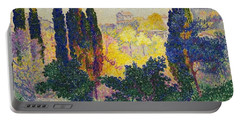 Henri Edmond Cross French Les Cypres A Cagnes Portable Battery Charger
