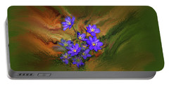 Hepatica Nobilis Painterly #h4 Portable Battery Charger